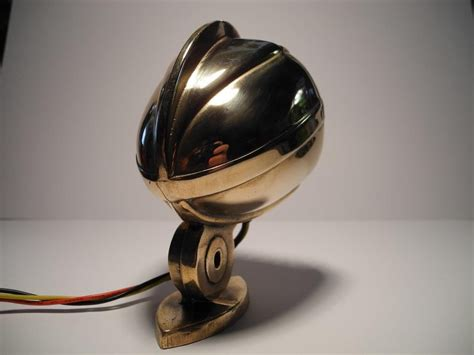 Handmade Microphone - handmade brass led microphone taillight harley davidson