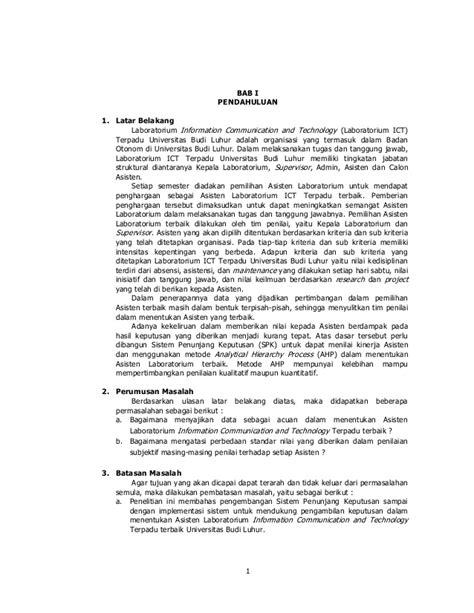 101 Hadits Tentang Budi Luhur kkp sistem penunjang keputusan untuk menentukan asisten terbaik denga