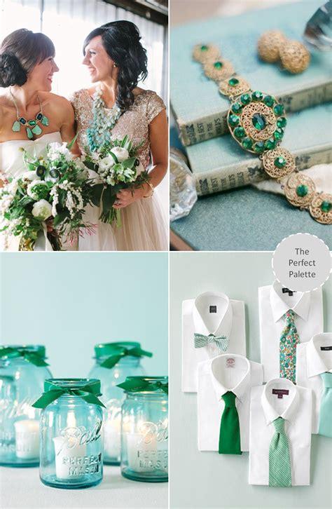 aqua green wedding ideas wedding colors aqua emerald the perfect palette