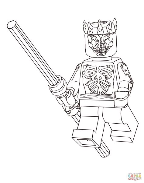 coloring pages of darth maul lego darth maul coloring page wars
