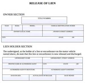 lien waiver template sle lien release form 8 free documents in pdf