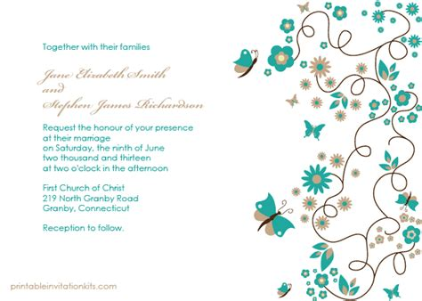 butterfly invitation card template butterfly garden invitation wedding invitation templates