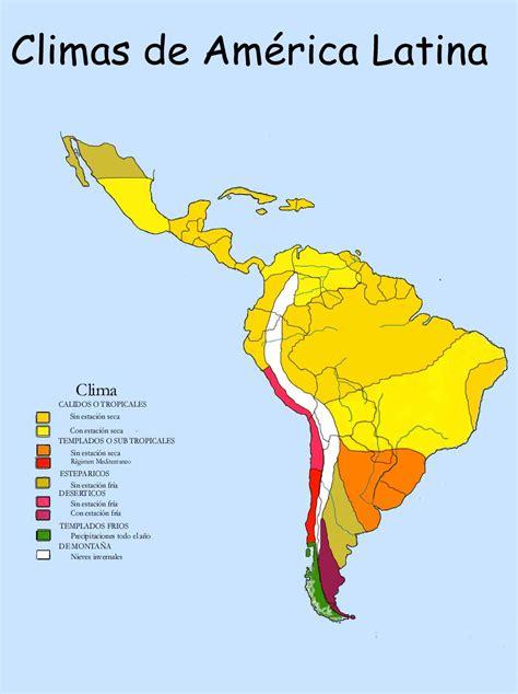 america mapa de climas am 233 rica climas de america