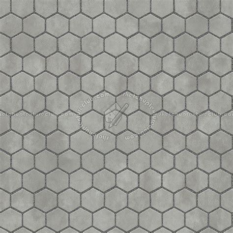 Concrete paving outdoor hexagonal texture seamless 06000