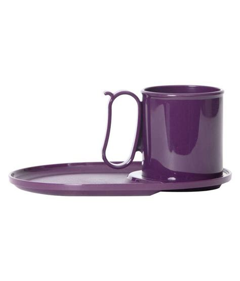 Snack It Tupperware Purple Tupperware Purple Plastic Snack Plate And Cup 2 Pcsa