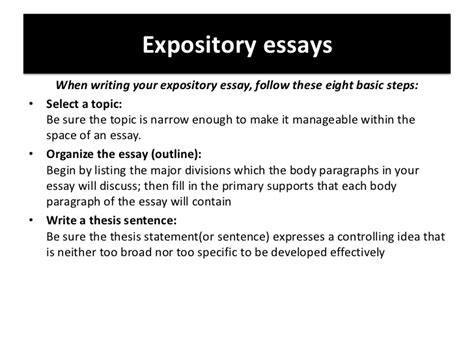 Concluding An Informative Essay by Expository Essays