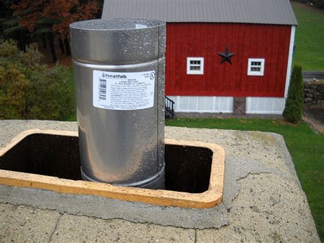 Fireplace Chimney Liners by Wood Insert Chimney Liner Installation Flickr Photo