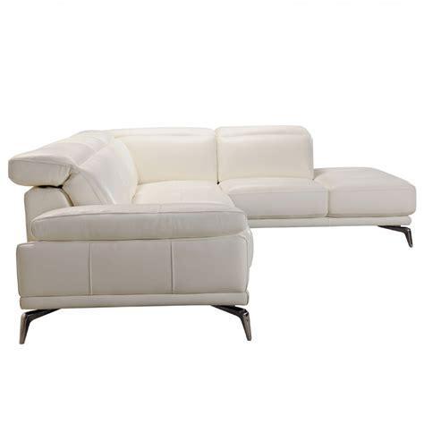 divani casa tundra modern white italian leather