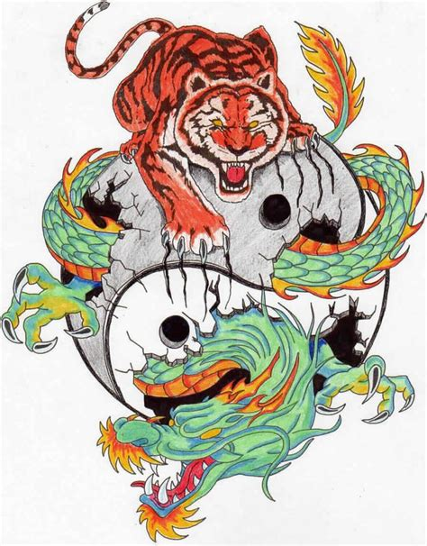 dragon tiger tattoo designs 15 best images about martial arts tattoos on