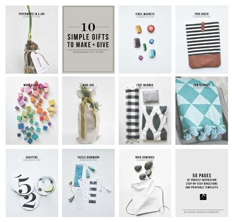 Handmade Simple Gifts - 10 simple gifts to make give jones design company