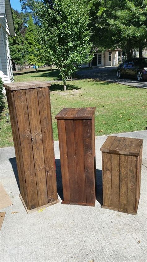 recycled wood pallets   solid wood pedestals
