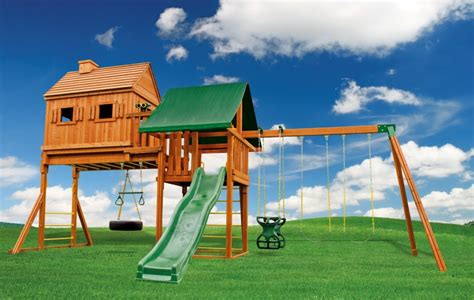 swing set installation long island fantasy tree house backyard swing set eastern jungle gym