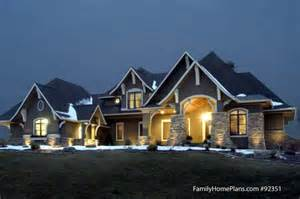 Superior Unique Craftsman House Plans #1: Craftsman-home-at-night.jpg
