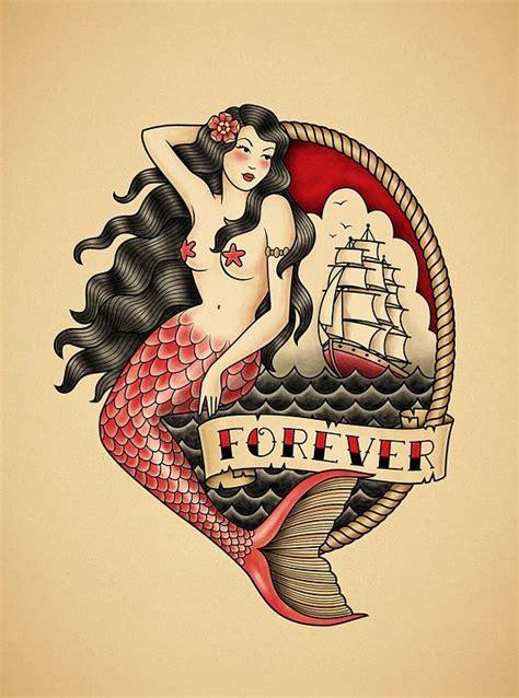 old school mermaid tattoo designs 63 best school images on