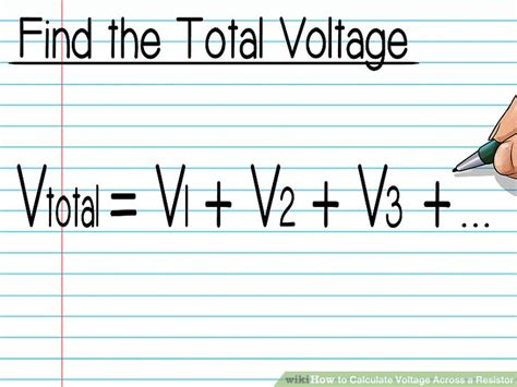 finding voltage across a resistor how to calculate voltage across a resistor with pictures