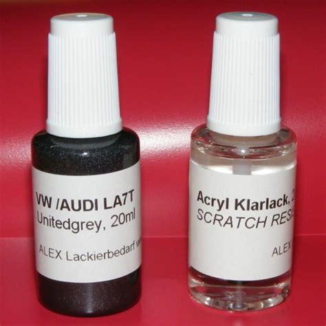 Lackstift Klarlack Polieren by Lackstift Vw Audi Skoda La7t Unitegrey Klarlack 2x20ml