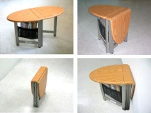 collapsible folding rv motorhome coffee table new oak ebay