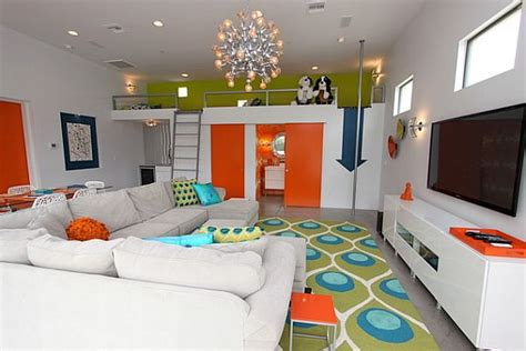 colorful family rooms loft decorating ideas five things to consider