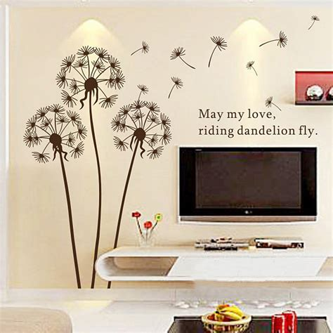 aliexpress buy 2015 sale dandelion wall sticker