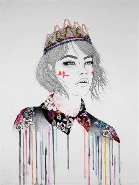 fashion illustration embroidery artisan embroidery izziyana suhaimi