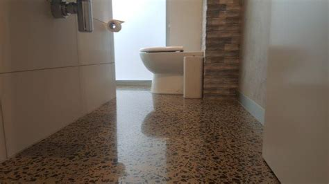 polished concrete in bathroom concrete polished bathrooms eco grind