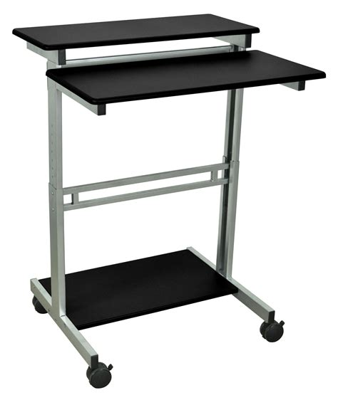 Mobile Stand Up Desk by Offex 31 5 Quot Mobile Stand Up Laptop Computer Desk