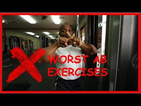 worst ab exercises how to get 6 pack abs part ii