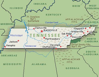 Tennessee Map With Cities And Towns by Tennessee Family Attractions Hotel Fun 4 Kids