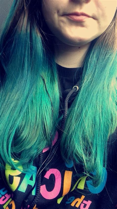 how to dye your hair with splat ocean ombre splat ocean ombre hair dye hair pinterest hair hair
