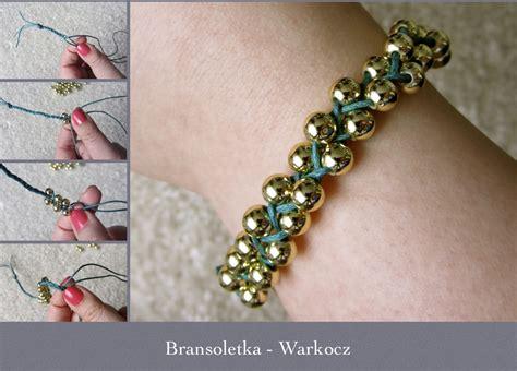 como hacer pulseras con perlas como hacer una pulsera de perlas trenzada enrhedando car