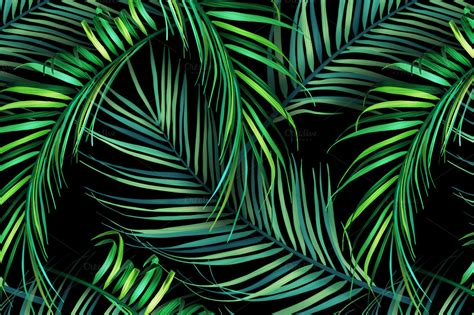 leaf pattern tumblr jungle palm leaves tropical pattern patterns on