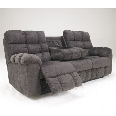 ashley furniture sectional microfiber ashley furniture acieona microfiber reclining sofa in