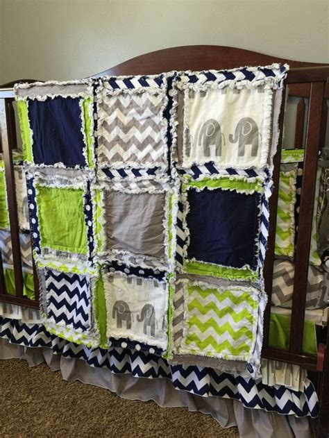 Blue Elephant Crib Bedding Elephant Crib Set Green Navy Gray Safari Nursery Decor Navy Blue Elephant Nursery Decor