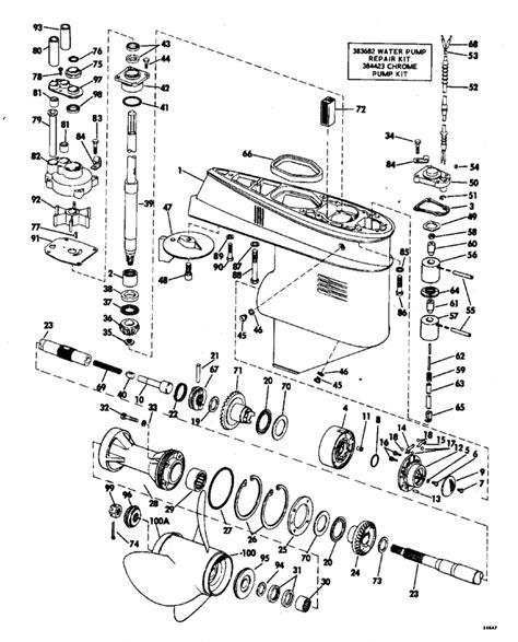 evinrude lower unit diagram ollie evinrude autos post