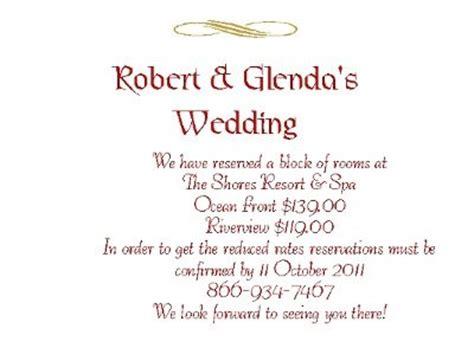 Wedding Invitation Insert Sles by Wedding Invitations Inserts Wording Sles Wedding