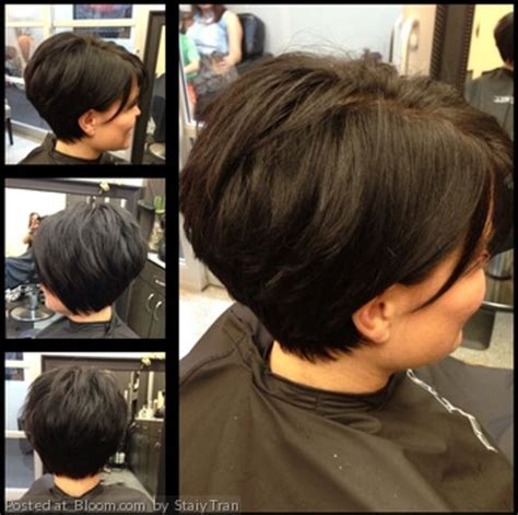 medium stacked haircuts behind ears get this cut for thick hair long wedge through the crown