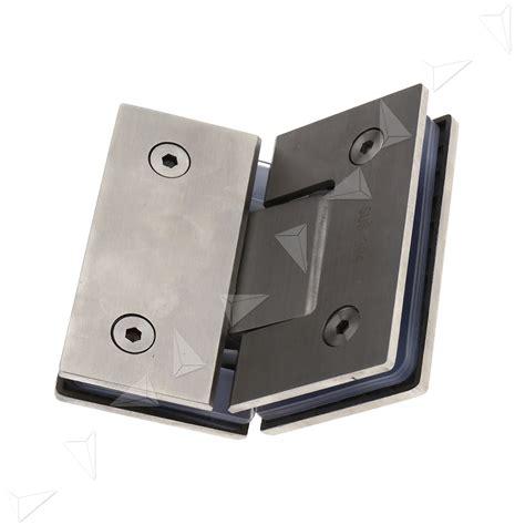 Shower Door Pivot Bracket 135 Degree Frameless Glass To Shower Door Bracket Hinge Chrome Plated Clip Ebay