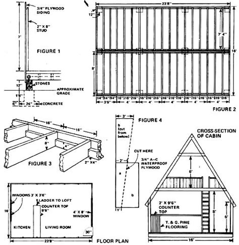 a frame cabin plans free heating ventilating 128 cabin area small cabin forum