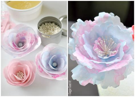 How To Make Edible Wafer Paper Flowers - wafer paper pinwheels i sugar coat it