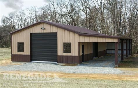 and garage door to metal building metal building with brown trim wainscot and doors