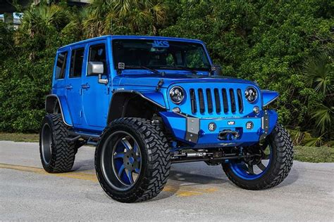 royal blue jeep custom jeep wrangler by performance jeep