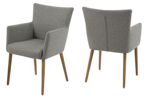 fauteuil design type scandinave en tissu gris mykaz