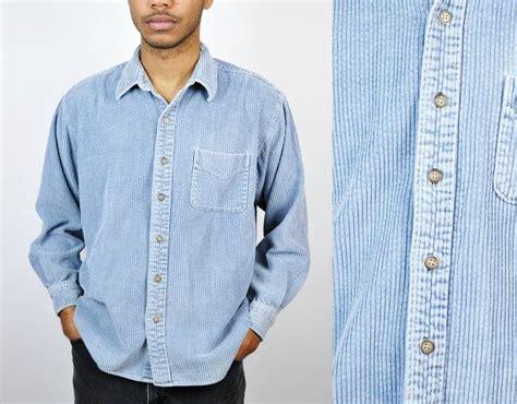 90s Corduroy Shirt, Men's Corduroy Jacket, Size Large