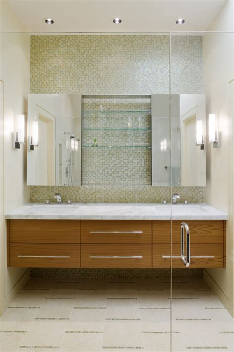 contemporary bathroom vanity lighting ideas with double sink mirrored medicine cabinet bathroom contemporary with