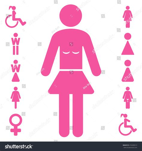 pink flat color lady icon glyph style is flat iconic symbol pink color