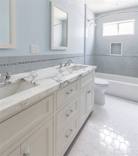 honed marble bathroom a double vanity with honed marble for a shared bath
