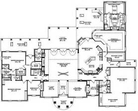 House Plans 1 Story 653898 One Story 3 Bedroom 4 Bath Mediterranean Style