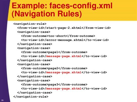 xml navigation tutorial jsf 2 tutorial explicit page navigation and faces config xml