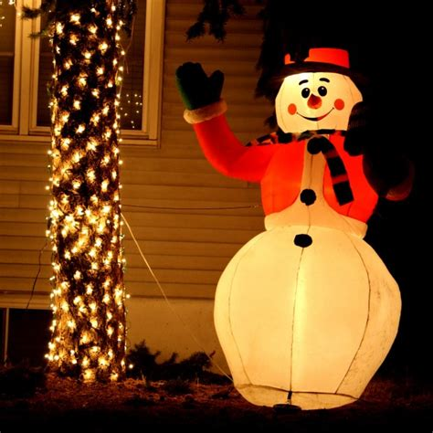 lighted snowman holiday yard ornament picture free