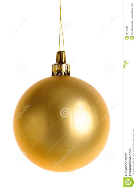 christmas gold bauble stock photo image 45767495